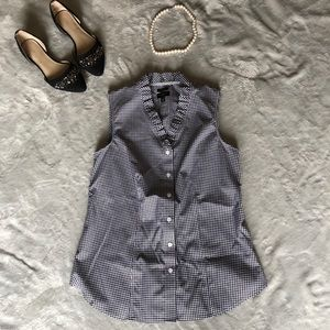 LIKE NEW Talbots gingham button-down tank